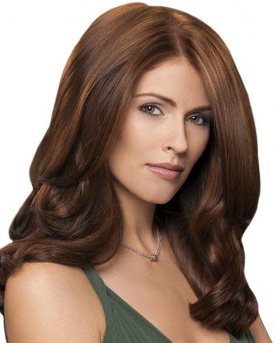 каштановый цвет волос фото: