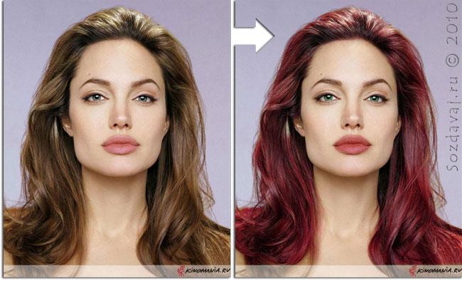 Как сделать в фотошопе чистые волосы
