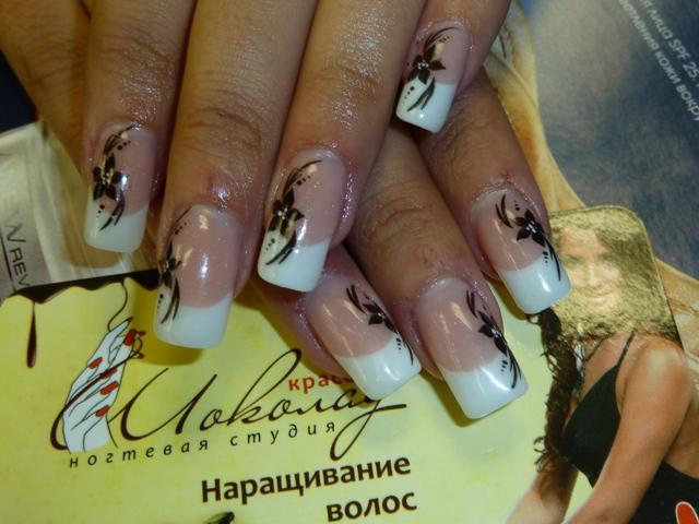 Дизайн на нарощенных ногтях весна