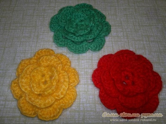 Цветы крючком схемы фото 4