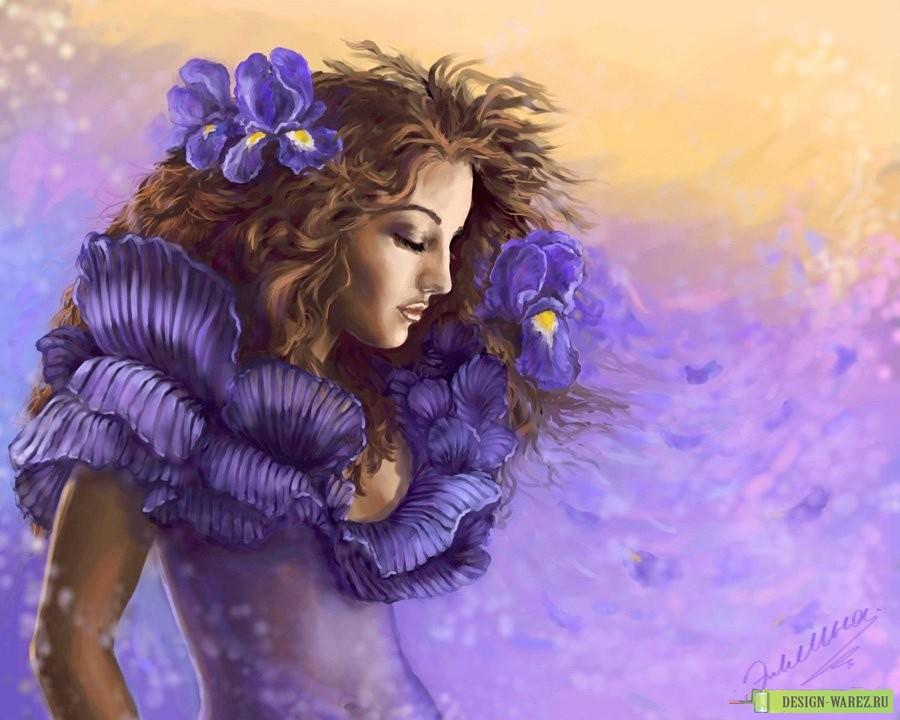 Картинки девочек с коричневыми волосами - 3b491
