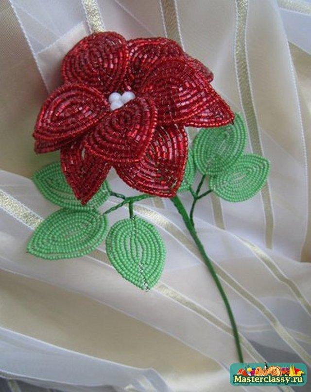 Плетение из бисера цветы фото