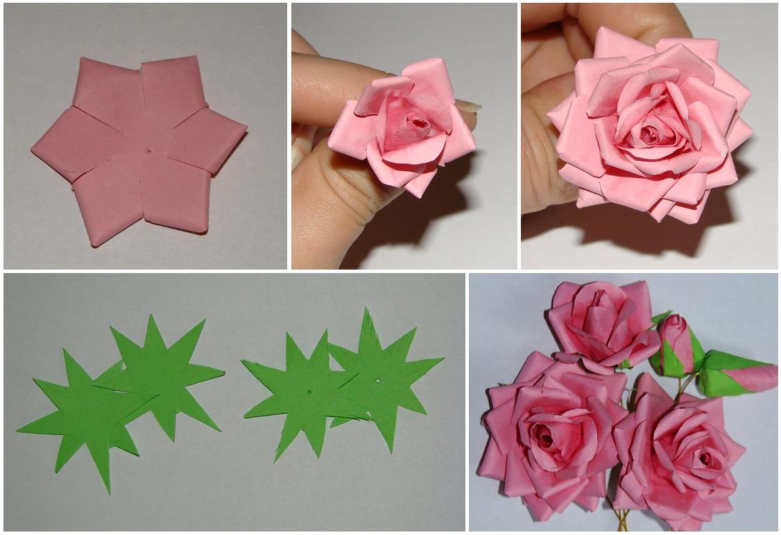 Делаем розу из бумаги своими руками 9