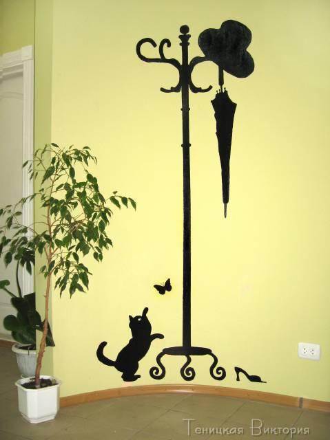 Креативные рисунки в квартире на стенах в