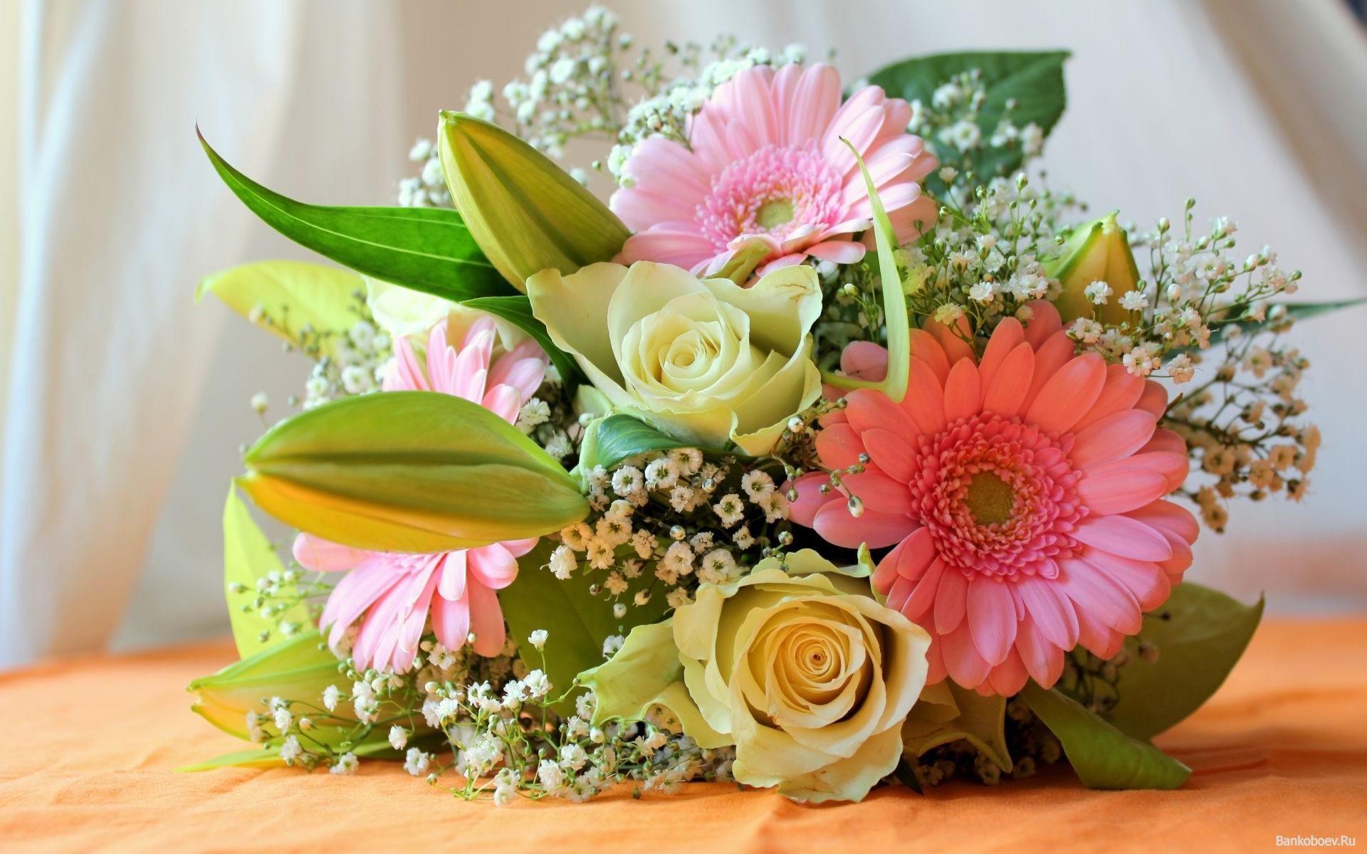 Скачать бесплатно картинки красивый букет цветов в