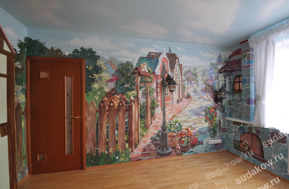 Рисунки на стенах роспись стен