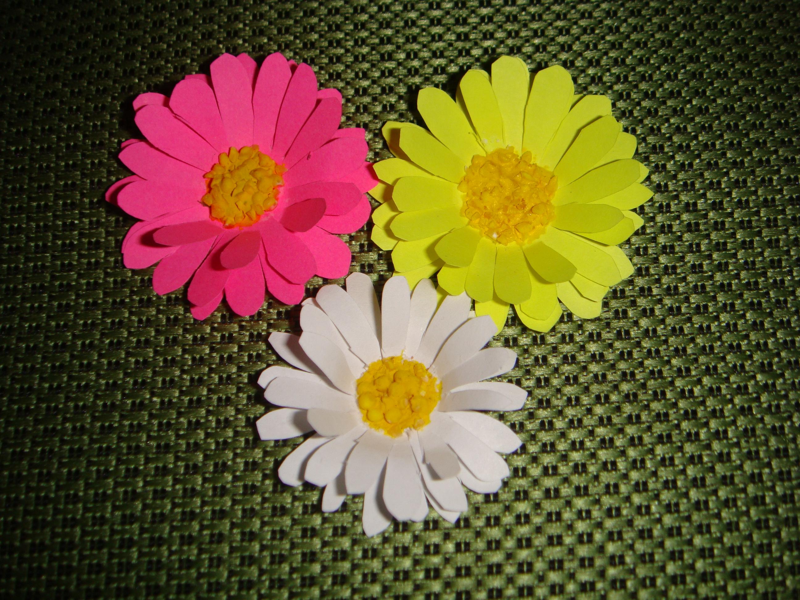 Цветок из бумаги на открытку своими руками пошаговое фото