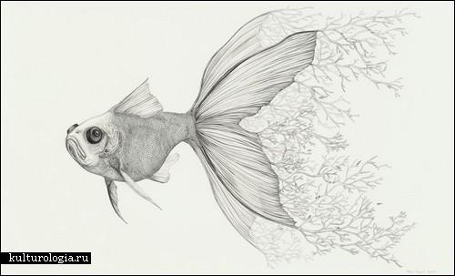 рисунки карандашом для начинающих природа: