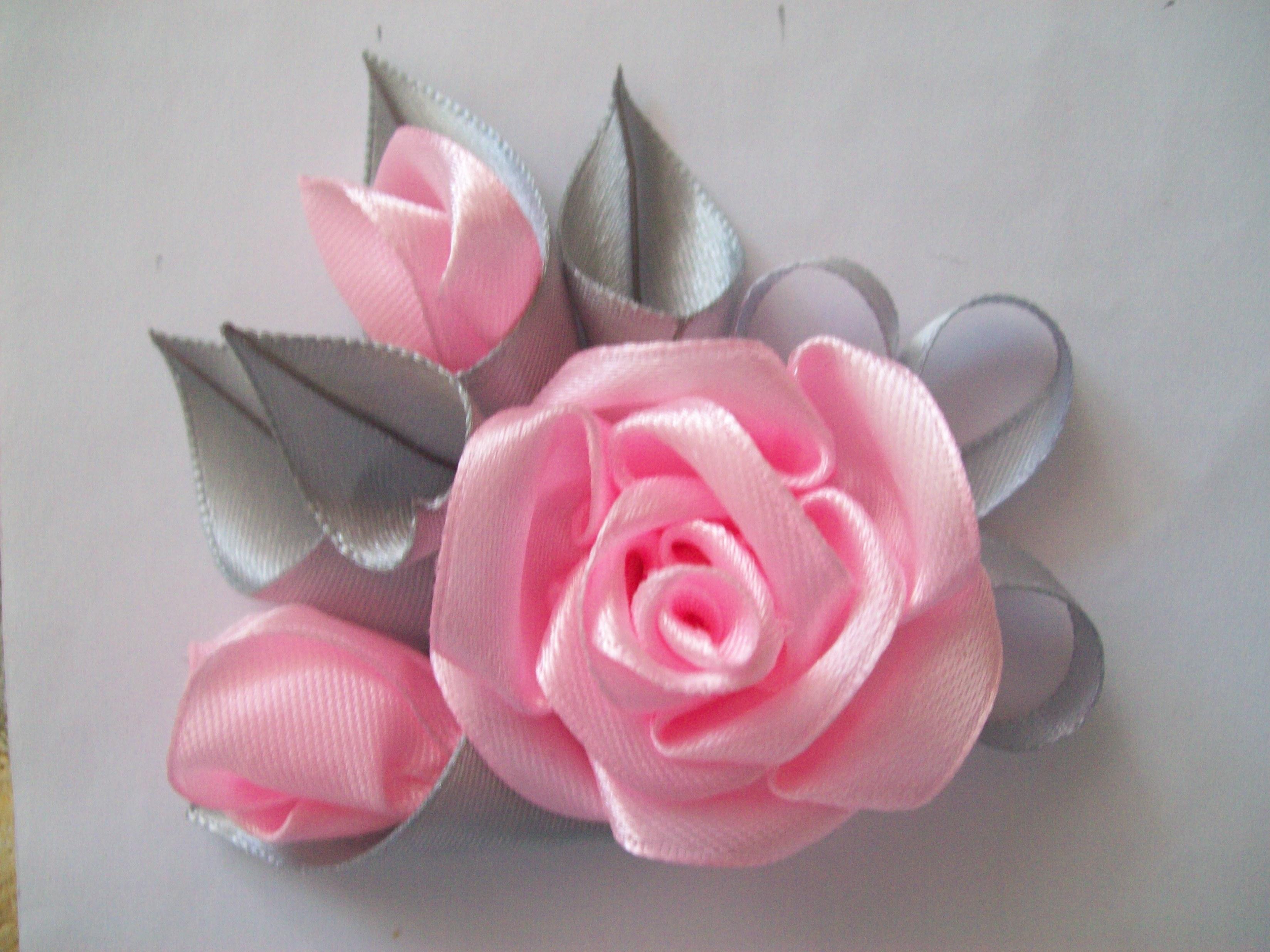 Цветы своими руками лентами фото