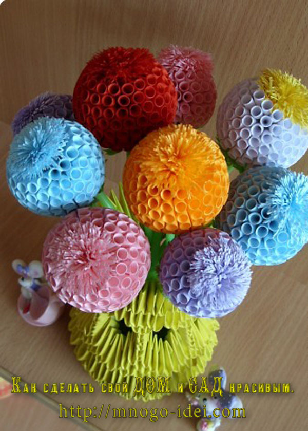 Цветы из бумаги для акварели своими руками фото 56