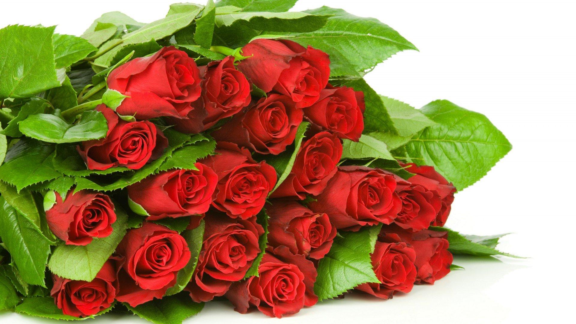 Букет цветов красные розы