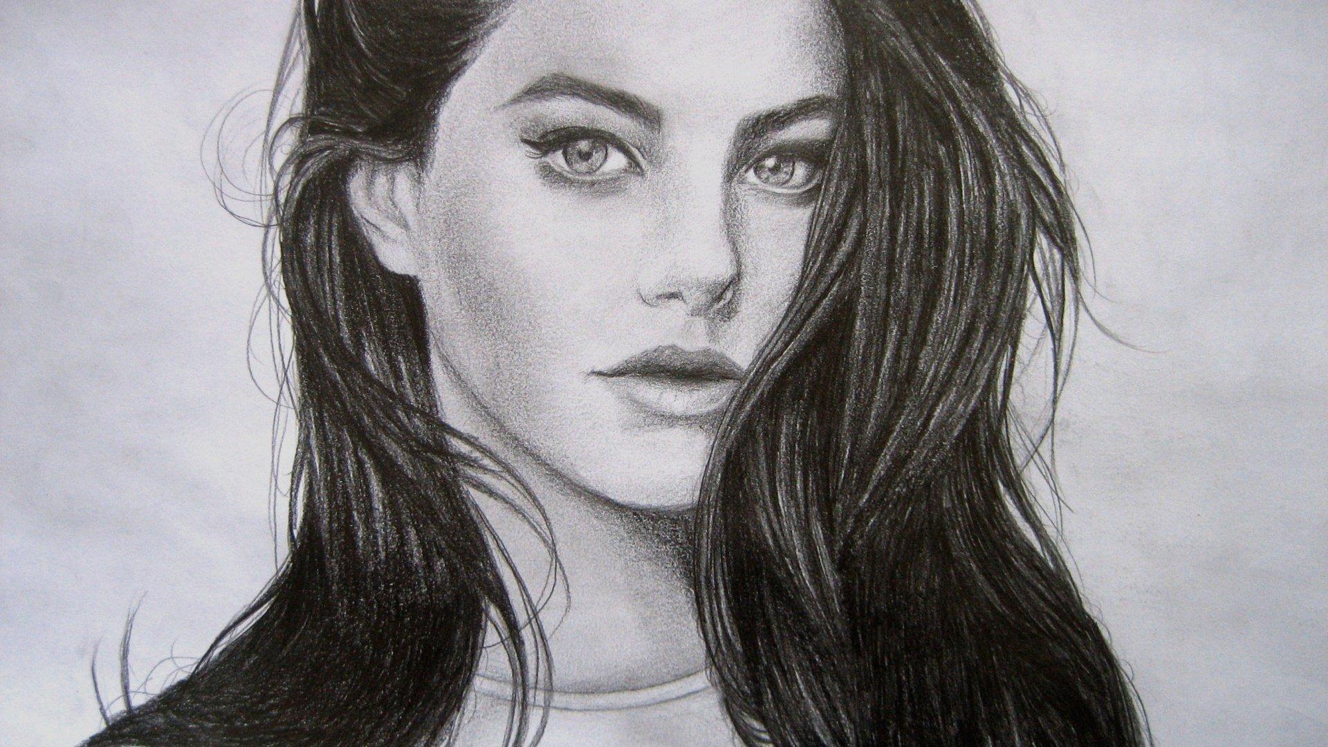 Лицо девушки фото для срисовки