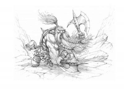 Нарисовать Дварфа карандашом