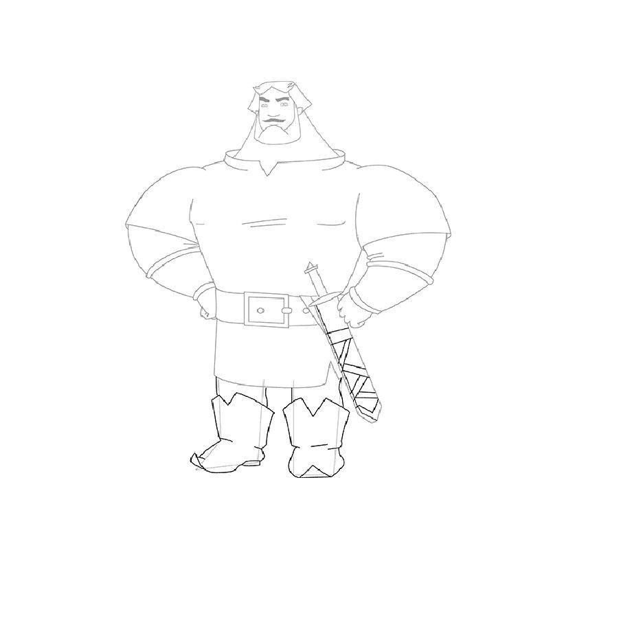 Как нарисовать Илью Муромца карандашом поэтапно