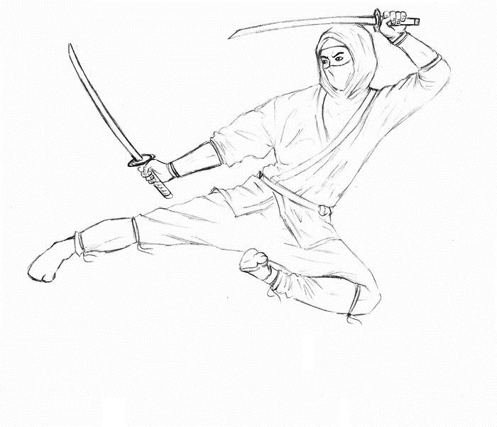Рисунки для срисовки ниндзя