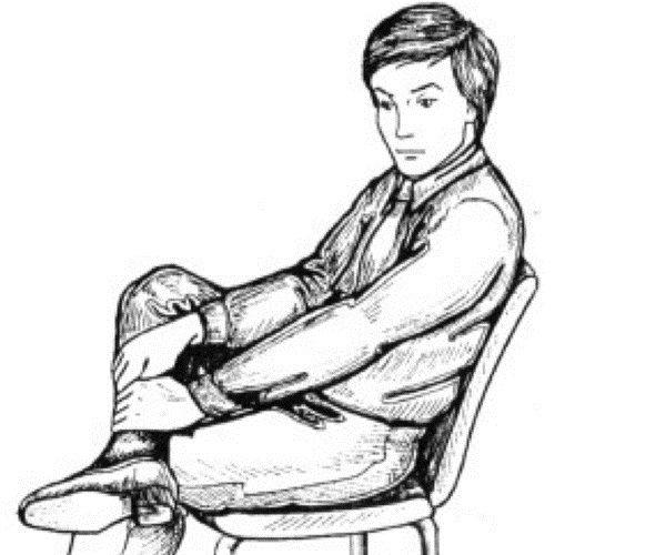 Как рисовать человека на стуле