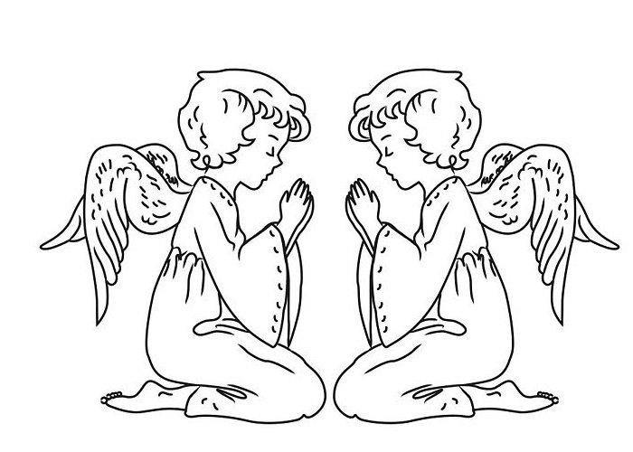 нарисовать ангела поэтапно фото