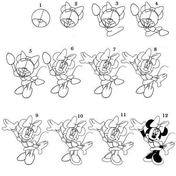 Как нарисовать героев из диснея карандашом
