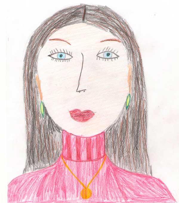 Рисунок карандашом мамы детский рисунок