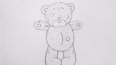 Пошаговая инструкция как нарисовать мишку Тедди