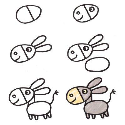 Рисунки карандашом поэтапно для детей