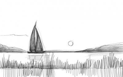 Как нарисовать закат карандашом поэтапно