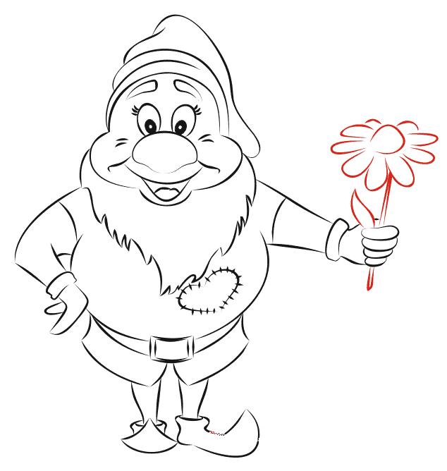 Как нарисовать гнома карандашом поэтапно для ребенка