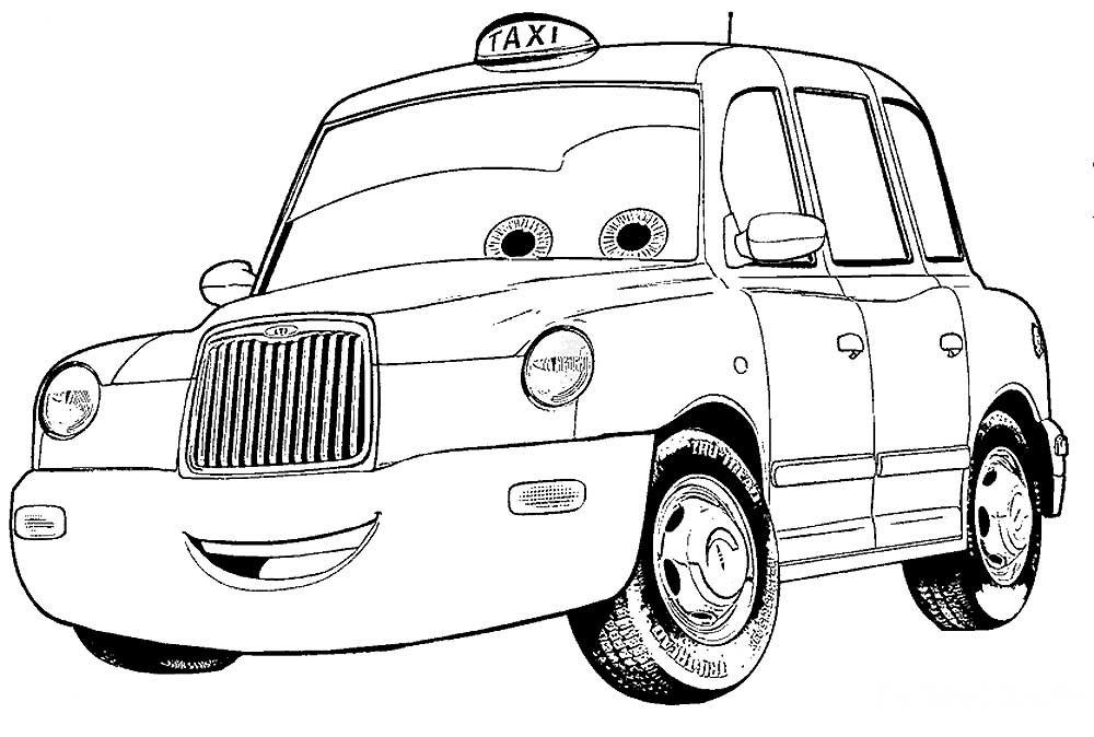 Такси раскраски » DreemPics.com - картинки и рисунки на ...