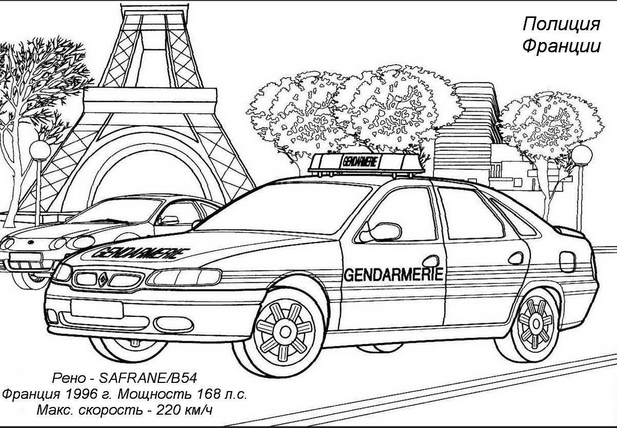 Полицейские машины раскраски » DreemPics.com - картинки и ...
