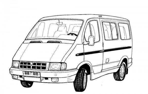 Автомобилей Газель раскраски » DreemPics.com - картинки и ...